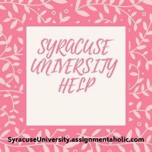 SYRACUSE UNIVERSITY HELP